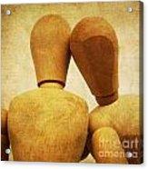 Wooden Figurines Acrylic Print by Bernard Jaubert