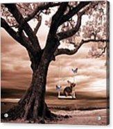 Woodland Swing Acrylic Print by Sharon Lisa Clarke