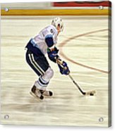 Working The Puck Acrylic Print by Karol Livote