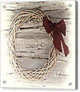 Woven Reed Wreath Acrylic Print by Linda Phelps
