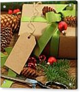 Wrapping Gifts For The Holidays Acrylic Print by Sandra Cunningham