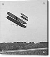 Wrights Airplane In Army Trial Flights Acrylic Print by Everett