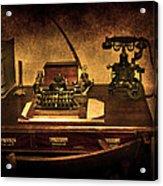 Writers Desk Acrylic Print by Svetlana Sewell