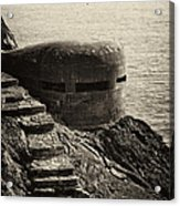 Wwii Pill Box Acrylic Print by Leslie Leda