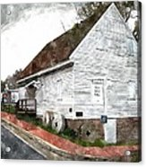 Wye Mill - Water Color Effect Acrylic Print by Brian Wallace