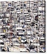 Yacht Marina Acrylic Print by Jeremy Woodhouse