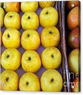 Yellow Apples Acrylic Print by Carlos Caetano