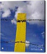 Yellow Post Acrylic Print by Bernard Jaubert