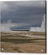 Yellowstone Geysers2 Acrylic Print by Charles Warren