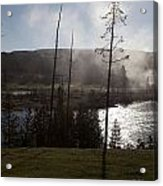 Yellowstone Morning Acrylic Print by Charles Warren