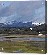 Yellowstone Vista 10 Acrylic Print by Charles Warren