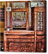 Yesterday's Post Office Acrylic Print by Susan Candelario