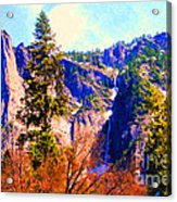 Yosemite In The Fall . 7d6287 Acrylic Print by Wingsdomain Art and Photography