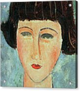 Young Brunette Acrylic Print by Modigliani
