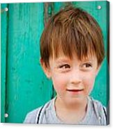 Young Child Acrylic Print by Tom Gowanlock