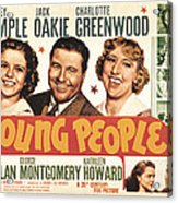 Young People, Shirley Temple, Jack Acrylic Print by Everett