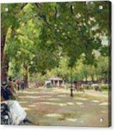Hyde Park - London Acrylic Print by Count Girolamo Pieri Nerli