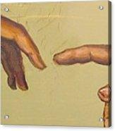 Michelangelos Creation Of Adam 1510 Acrylic Print by Eric Dee