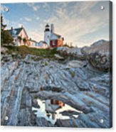Pemaquid Point Reflection Acrylic Print by Susan Cole Kelly