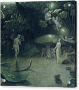 Scene From 'a Midsummer Night's Dream Acrylic Print by Francis Danby