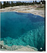Turquoise Hot Springs Yellowstone Acrylic Print by Garry Gay