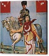 Republic Of Turkey: Poster Acrylic Print by Granger