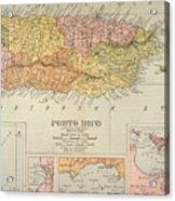 Map: Puerto Rico, 1900 Acrylic Print by Granger