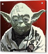068. Do Or Do Not. There Is No Try Acrylic Print by Tam Hazlewood