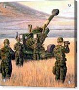 1-190th Artillery Acrylic Print by Scott Robertson