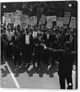 1963 March On Washington. Famous Civil Acrylic Print by Everett