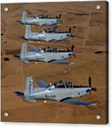 A Formation Of Iraqi Air Force T-6 Acrylic Print by Stocktrek Images