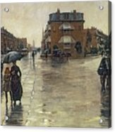 A Rainy Day In Boston Acrylic Print by Childe Hassam