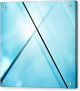 Abstract Intersecting Lines On A Glass Surface Acrylic Print by Ralf Hiemisch
