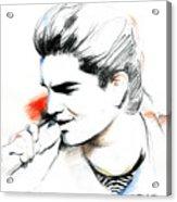 Adam Lambert Acrylic Print by Lin Petershagen