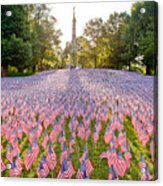 American Flags Acrylic Print by Susan Cole Kelly