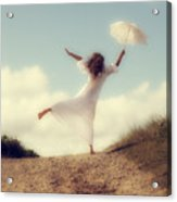 Angel With Parasol Acrylic Print by Joana Kruse