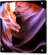 Antelope Slot Canyons Acrylic Print by Ryan Kelly