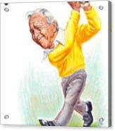 Arnie Acrylic Print by Harry West