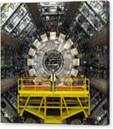 Atlas Detector, Cern Acrylic Print by David Parker