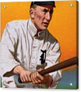Baseball. Ty Cobb Baseball Card Acrylic Print by Everett