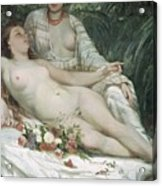 Bathers Or Two Nude Women Acrylic Print by Gustave Courbet