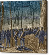 Battle Of The Wilderness, 1864 Acrylic Print by Photo Researchers
