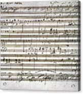 Beethoven Manuscript Acrylic Print by Granger