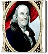 Ben Franklin Acrylic Print by War Is Hell Store