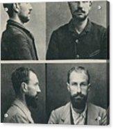 Bertillon System Photographs Taken Acrylic Print by Everett