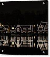 Boathouse Row - Philadelphia Acrylic Print by Brendan Reals