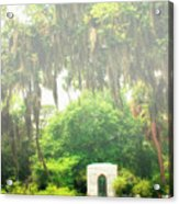 Bonaventure Cemetery Savannah Ga Acrylic Print by William Dey
