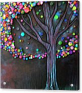 Button Tree 0006 Acrylic Print by Monica Furlow