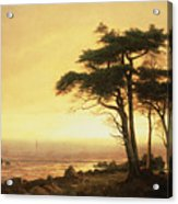 California Coast Acrylic Print by Albert Bierstadt