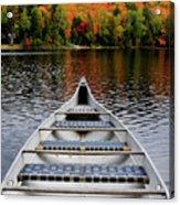 Canoe On A Lake Acrylic Print by Oleksiy Maksymenko